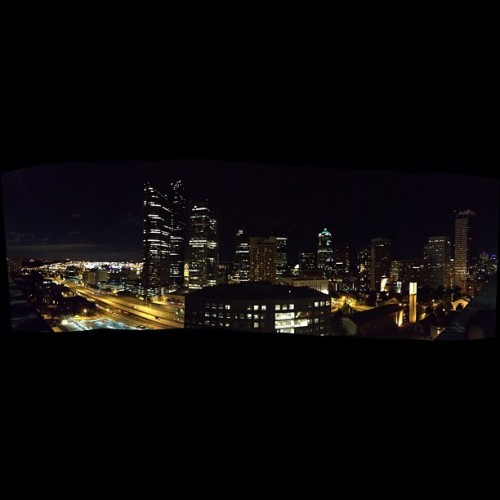 Panoramic view of this rooftop I'm on.  (Taken with Instagram)