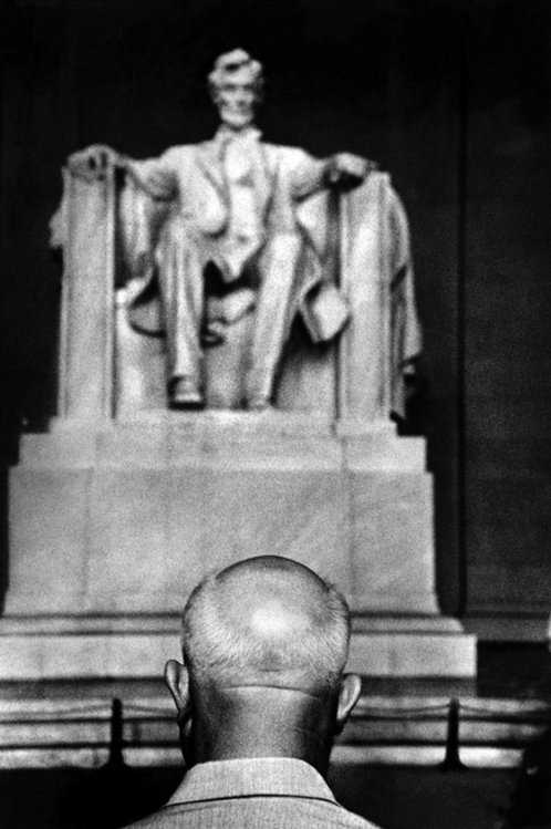 Burt Glinn The Soviet leader Nikita Khrushchev in front of the Lincoln memorial, Washington D.C., 1959