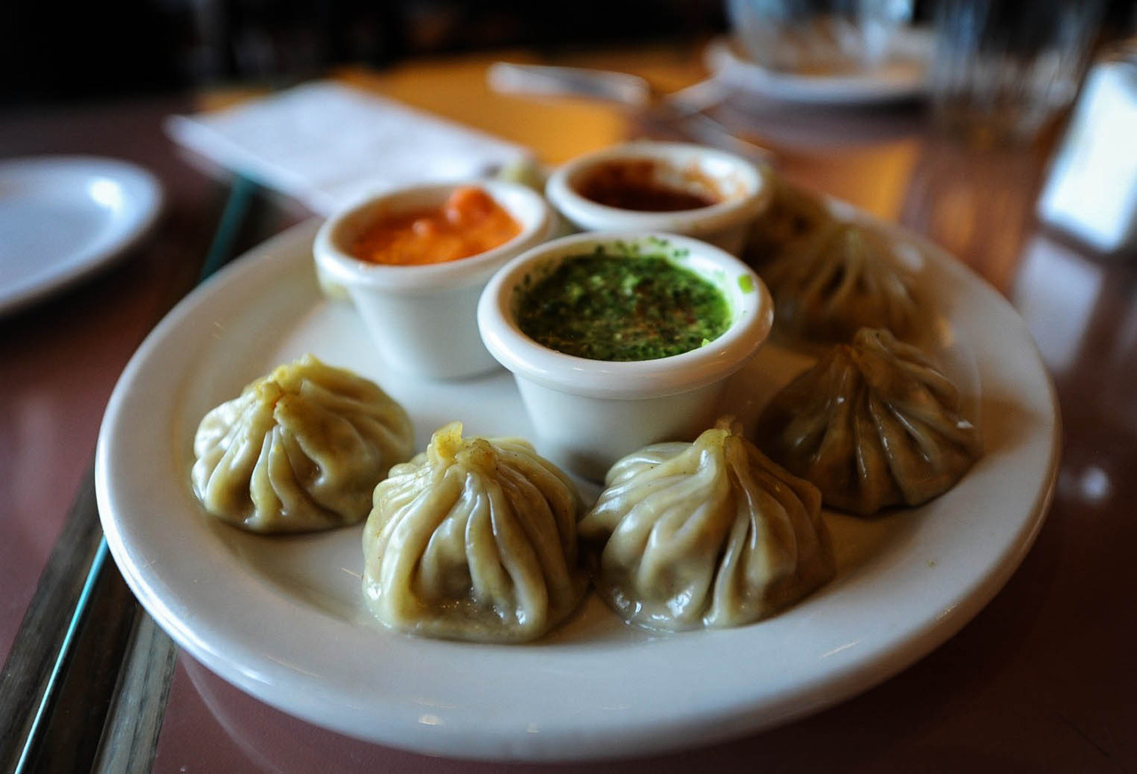 Momos, my favorite thing to eat in Nepal!Momo: A type of dumpling native to Tibet, Nepal.