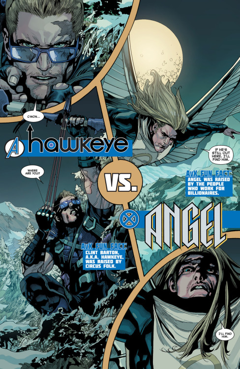 AVX VS 05: Angel Versus Hawkeye Leinil Yu's art is the best.
