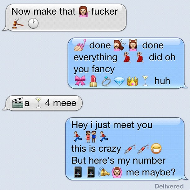 3:46am this is how friends really text lmao #emojis #boss (Taken with Instagram)