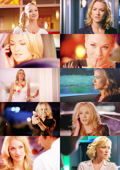 "ladybriennes:  Inspirational TV Ladies  → Sarah Walker ○ Chuck  ""You got me. I'm just a needy, love crazed girl, on a husband hunt…who's trained in over 200 ways to kill you. Afraid yet?"""