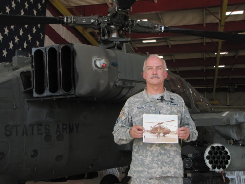 US Army retires Aircraft 451, last 'A' model Apache. (Photo and article by Sophia Bledsoe, 15 July 2012. Caption: Chief Warrant Of