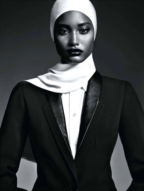 Melodie Monrose stars in front of Nathaniel Goldberg's black-and-white lens for the October issue of Vogue Japan, styled by fashion editor George Cortina.     Original Article