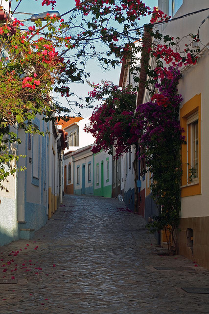 visitheworld:  Lovely street in Ferragudo, Algarve Coast, Portugal (by paul.turner150). This one is for Gabriela and Nic :)