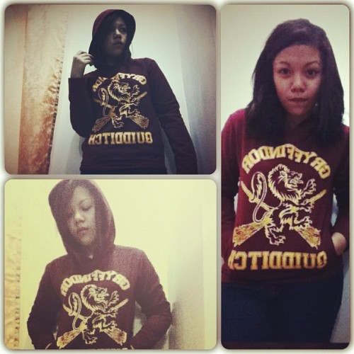 "ktinacruz:  my new hoodie!!:""> #tpws #gryffindor #quidditch (Taken with Instagram)"