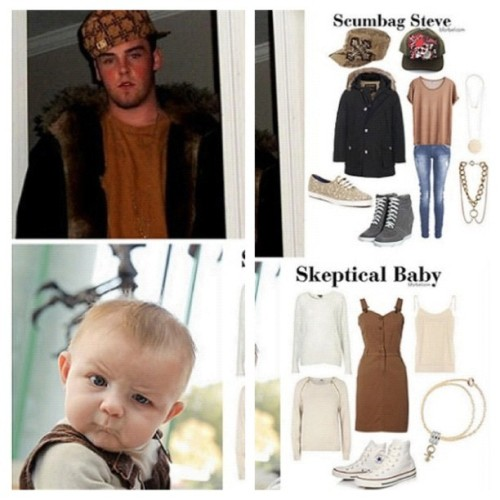 Meme fashion 9gag.com/gag/5222686 Scumbag Steve and Skeptical Baby (Taken with Instagram)