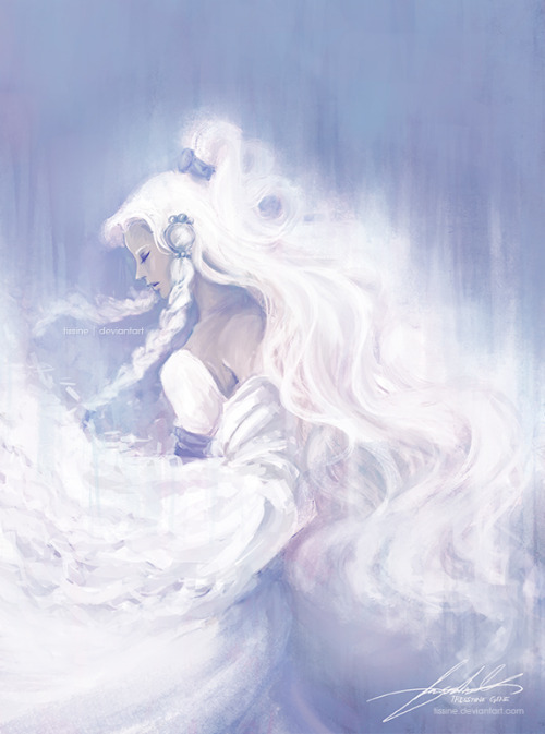 tissine:  Moon Princess by *tissine In my opinion, Yue's character design is the most beautiful in the Avatar: The Last Airbender.
