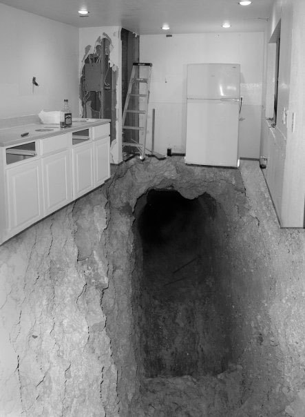 Found a hole in my kitchen.