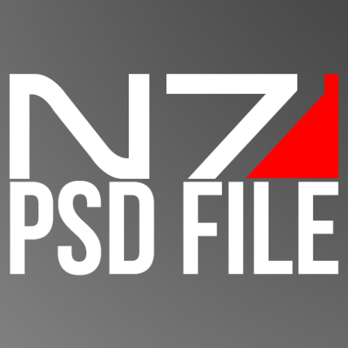 Mass Effect N7 PSD I search the whole internet twice but couldn't find one, so I made one. Its made with the Pen tool, so its scalable without loosing any quality.