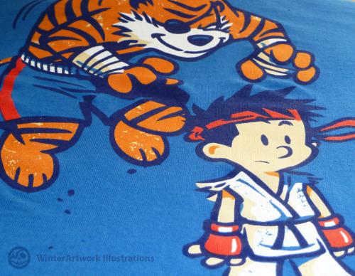 "The excellent print detail on my ""Tiger!"" design"