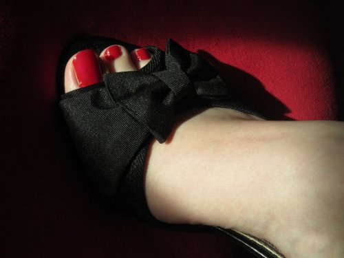Black Heel with Bow