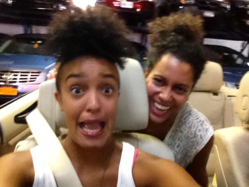we're in a convertible!! …that's still in the parking lot. #womp #nyc