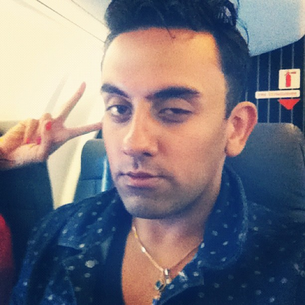 Sleep is overrated. Early flight snooze face.  (Taken with Instagram)
