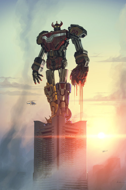 ryanmoody: Rangers First time (Megazord) by ~genesisa  juansaaa is killing it with the 90s nostalgia posts right now guys