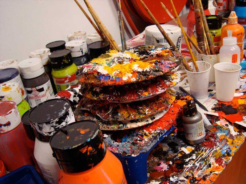 Esther Barend's studio