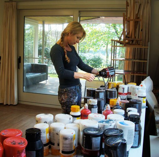 Esther Barend in her studio