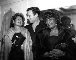 Rita with Yves Montand and Ella Fitzgerald.