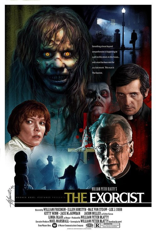 The Exorcist poster by Christopher Franchi. Limited edition signed and numbered prints are available to purchase here.