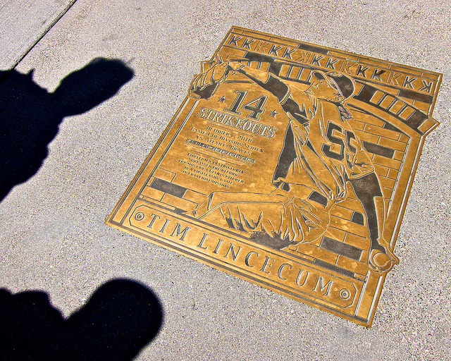 merdereves:  Tim Lincecum 14 strikeout Plaque at AT&T Park by donjd2 on Flickr.
