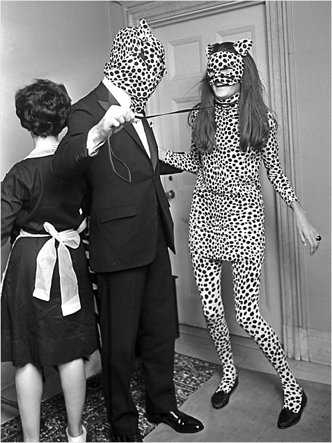 leopard people, 1966, larry c. morris. inspiration for halloween. minus the creepy cat man and leash.