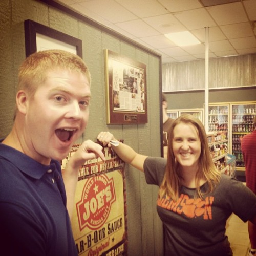 Introducing Cameron and Stephanie to Okie Joe's today! (Taken with Instagram)