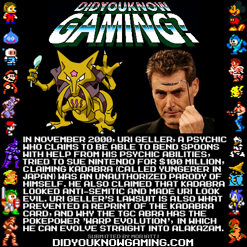 didyouknowgaming:  Pokemon.