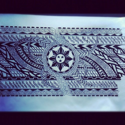 Can't Wait To Get It Done! :] #filipino #tribal #tattoo  (Taken with Instagram)