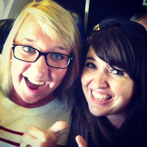 @abbiea and I are very excited about airplanes! (Taken with Instagram at Denver International Airport (DEN))
