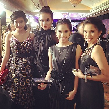 racketinersonline:  (L-R) Myrtle, TIN, Joj & Jai @ Star Magic Ball
