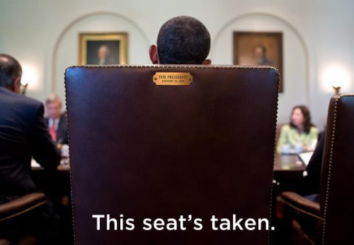 "The Twittersphere was abuzz about a photo that the Obama team tweeted in response to Clint's speech. It featured Barack in his chair and said, ""This seat's taken."" The same photo also went viral on Facebook when the Obama team posted it with the same text (this time, placed upon it).Did the POTUS just tell Clint to go ahead and make his day … in a very funny way?Yeah, we think he did."