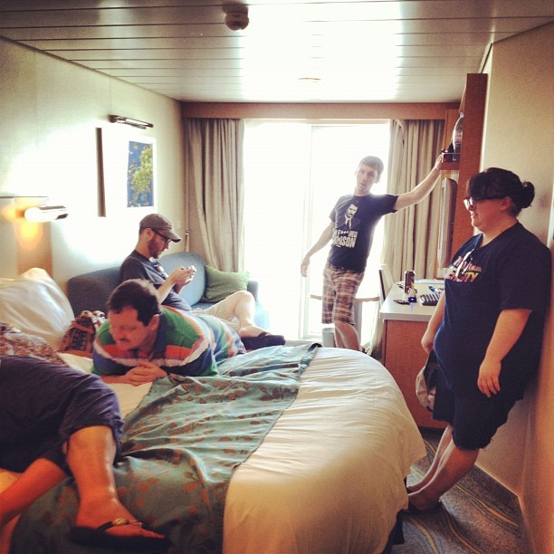 Party in the Marti room! #masonfamilyvaca #oasisoftheseas (Taken with Instagram)