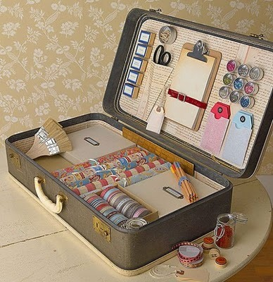 vintage suitcase craft case