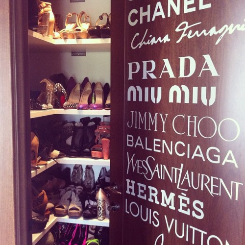 visualvixen:  A peak inside shoe heaven.