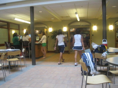 Blanchard Campus Center's cafe is FINALLY open for business once more! We braved the lunch crowd for grilled cheese and ice cream today  - can't wait 'til the Blanchaholic gets back MoHome!  OMG, I'm on my way.  xoxo, The Blanchaholic