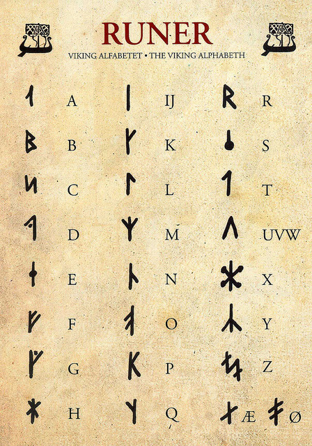 fuckyeahvikingsandcelts:  The Viking Alphabet by ichabodhides on Flickr.Runes