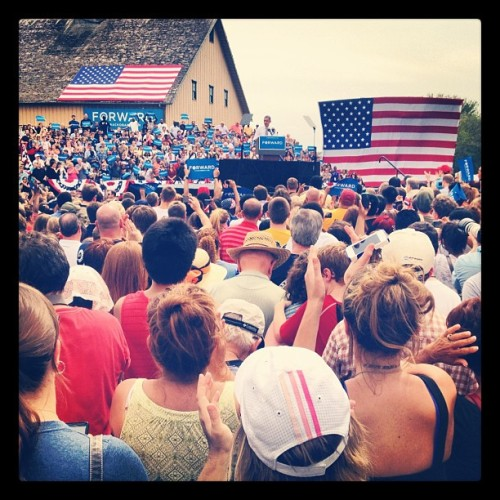 "ofa-ia:  ""Iowans, you can #BeTheFirst to vote early starting on Sept 27!"" #BaROCKdsm #GottaVoteEarly (Taken with Instagram)"