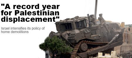 """A record year for Palestinian displacement"" 