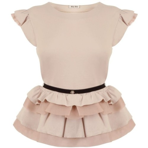Miu Miu t shirt   ❤ liked on Polyvore (see more peplum tops)