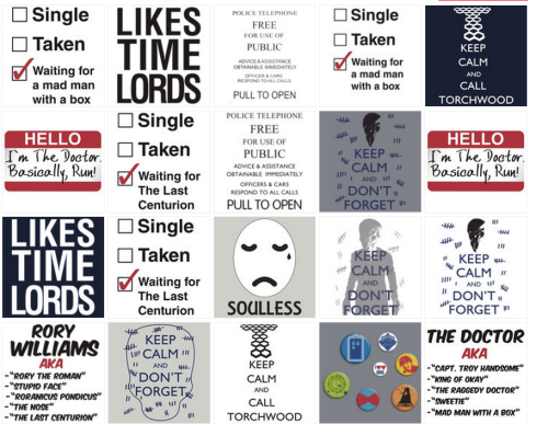 Check out my Doctor Who designs on RedBubble.