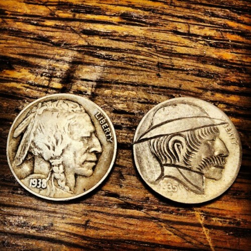 mudwerks:  Hobo Nickel and example of source coin…
