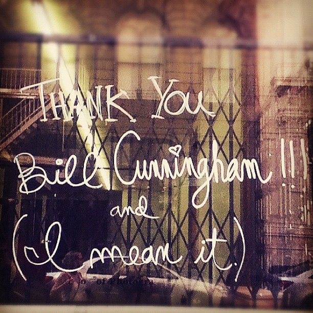 Bill Cunningham Love (Taken with Instagram)
