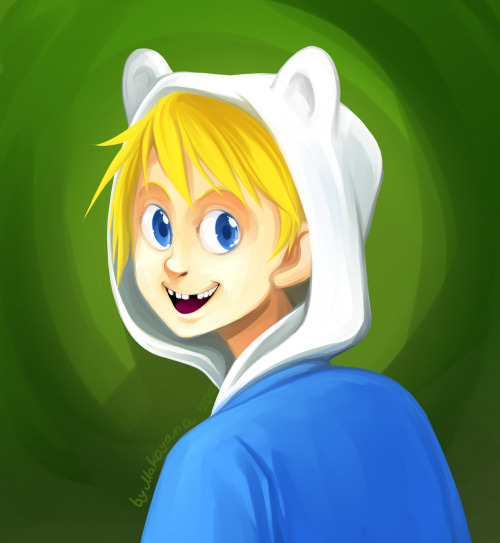 Wanted to paint Finn, but failed miserably. :C