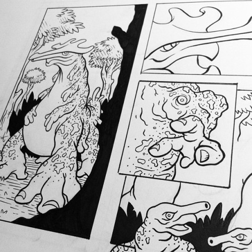 richdaley:  Comic preview! Continuing my documentary style monster comics! #comics #monsters (Taken with Instagram at home)