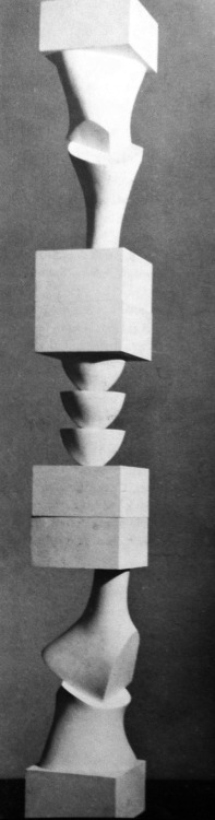 archiveofaffinities:  Jean Arp, Column with Interchangeable Elements, 1945-1955