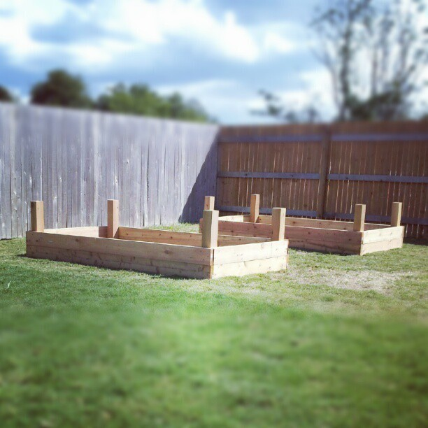 garden beds… cc @gourmetfury  (Taken with Instagram)