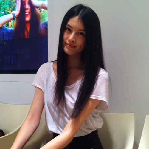 @hesui923 with @newyorkmodels at the #nyfw @bcbgmaxazria ss13 pre-casting casting (Taken with Instagram)