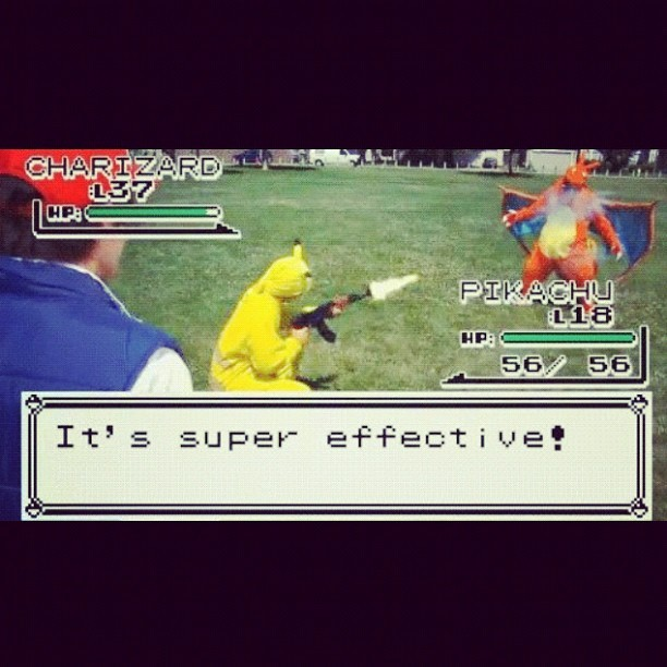 Ak-47 attack! #vioniq #gaming #gamer #ak47 #pokemon #pikachu #charizard #attack #gameboy (Taken with Instagram)