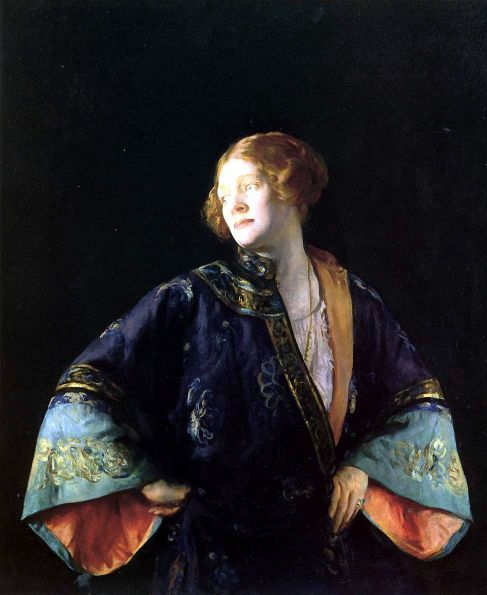 Joseph Rodefer DeCamp (1858-1923), The Blue Mandarin Coat, 1922, Private Collection.