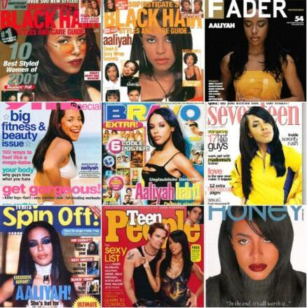 Aaliyah magazines Part. 2    Instagram @rememberingaaliyah